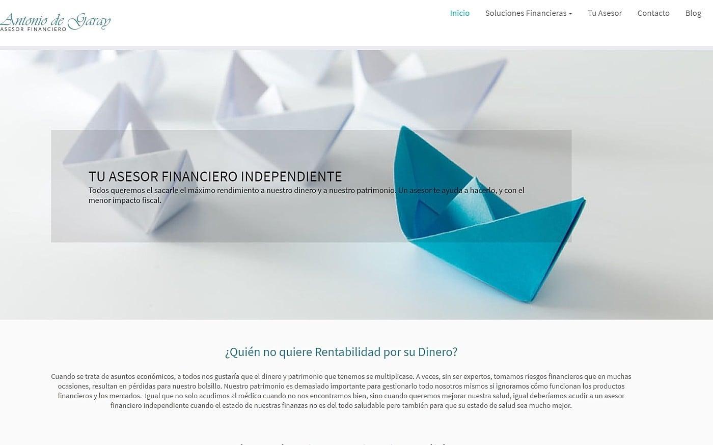diseño página web servicios asesoría