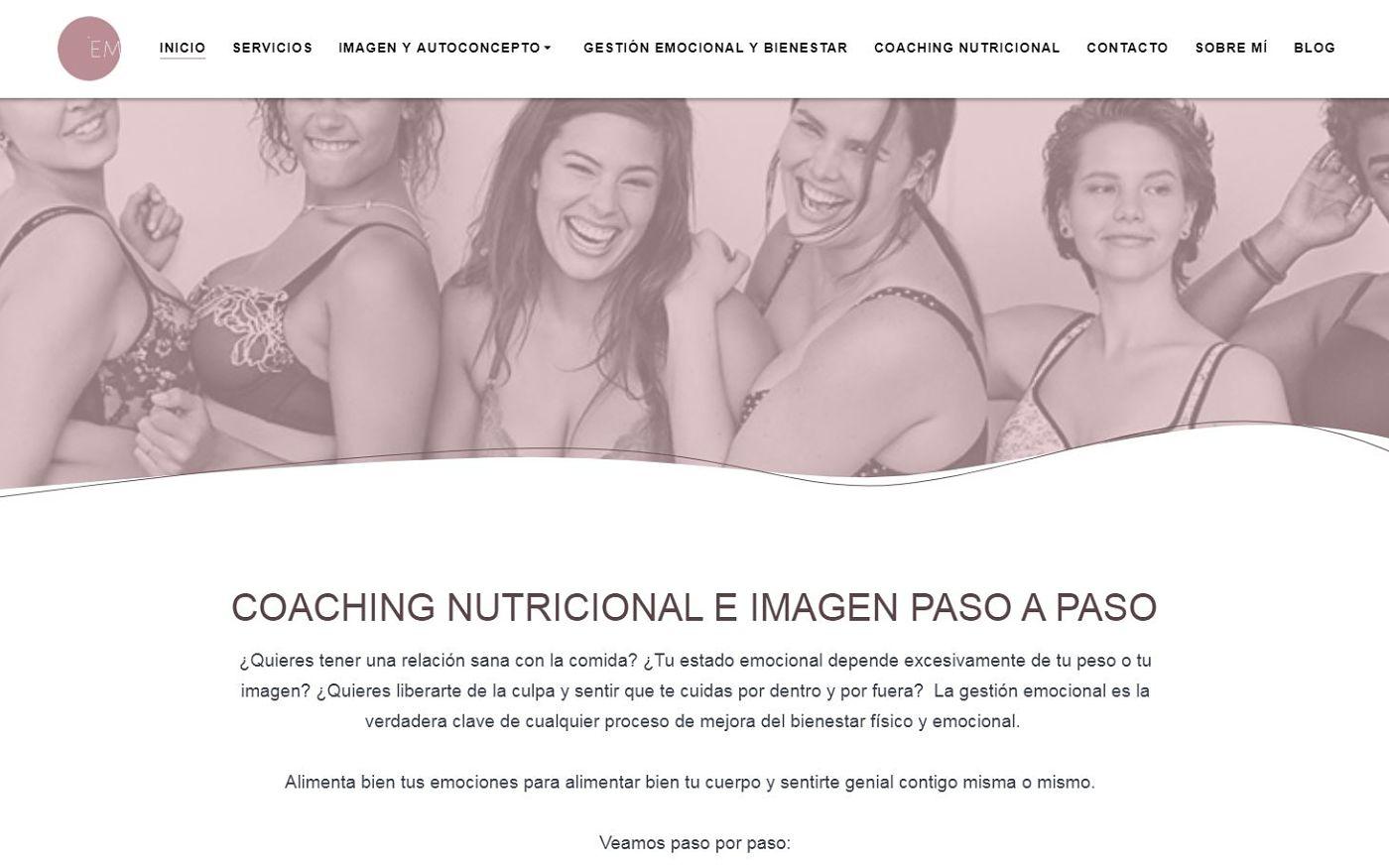 diseño web para coach psicóloga nutrición salud imagen