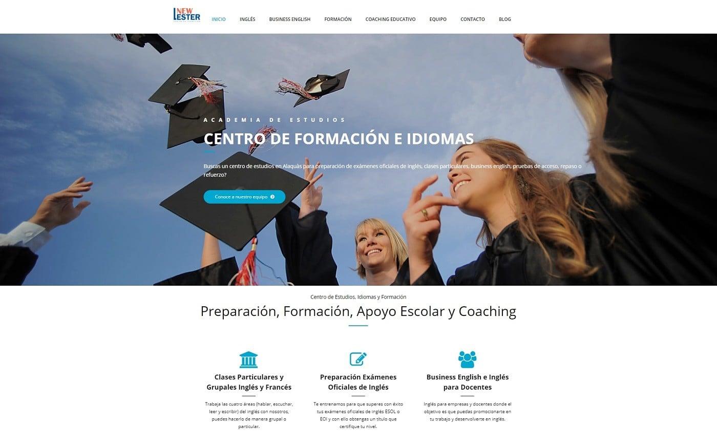 diseño para newlester centro de formación academia idiomas