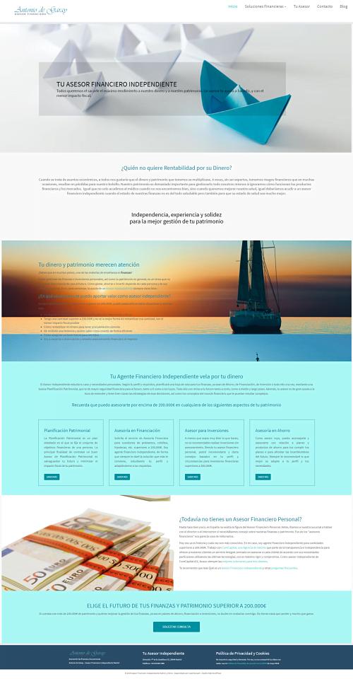 cómo crear una página de inicio eficiente